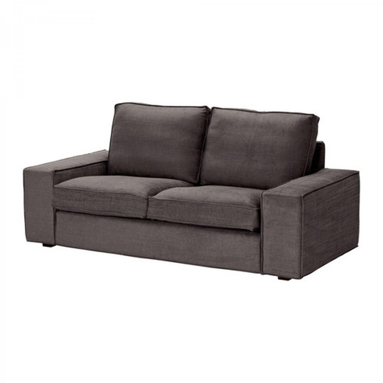 ikea gray brown sofa table newport sleeper futon kivik 2 seat loveseat slipcover cover tullinge