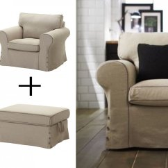 Chair Slipcovers Australia Workpro Office Ikea Ektorp Armchair And Footstool Ottoman Covers