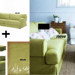 Chair Slipcovers Green Cheap Banquet Covers Rental Ikea Hovas Sofa And Footstool Slipcover Cover Kallvik