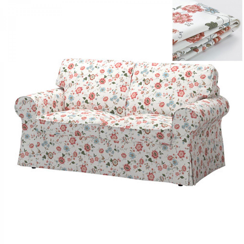 flower sofa covers west elm henry leather ikea ektorp 2 seat loveseat cover slipcover videslund
