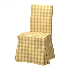Cotton Dining Chair Covers Uk Vitra Panton Ikea Henriksdal Skaftarp Yellow Slipcover Cover