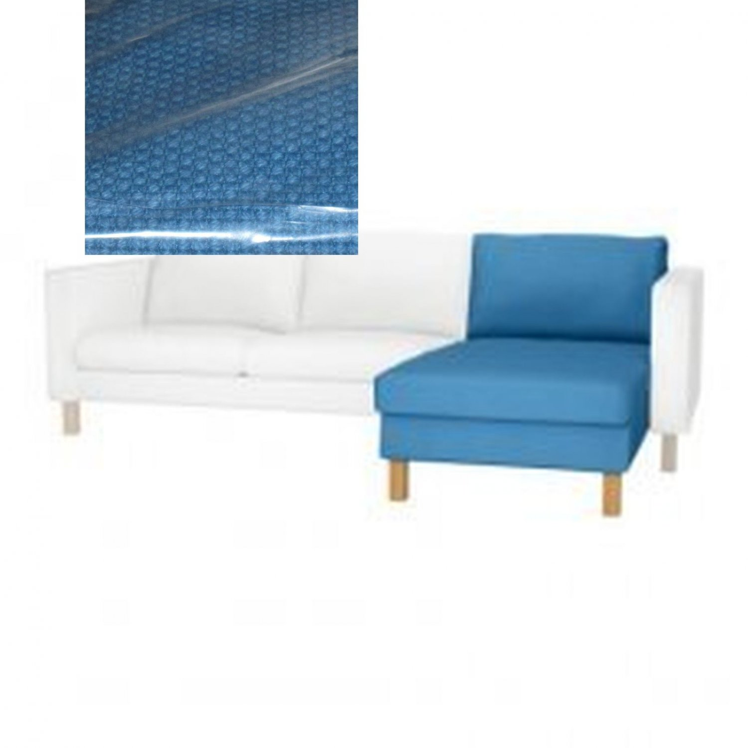 ikea karlstad sofa covers uk average cost of slipcover for add on chaise longue korndal
