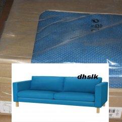 Ikea Karlstad Sofa Covers Uk Square Corner Set 3 Seat Slipcover Korndal Blue Cover