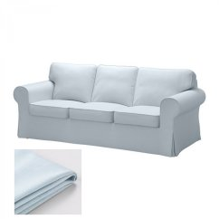 Ikea Karlanda Sofa Covers Uk Red Leather Design Ideas Ektorp 3 Seat Cover Slipcover Nordvalla Light Blue