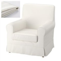 Chair Covers White Linen How To Make Bean Bag Cover Ikea Ektorp Jennylund Armchair Slipcover
