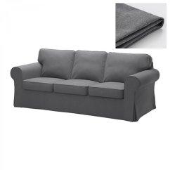 Dark Grey Sofa Cover Black Leather Sleeper Full Ikea Ektorp 3 Seat Slipcover Nordvalla