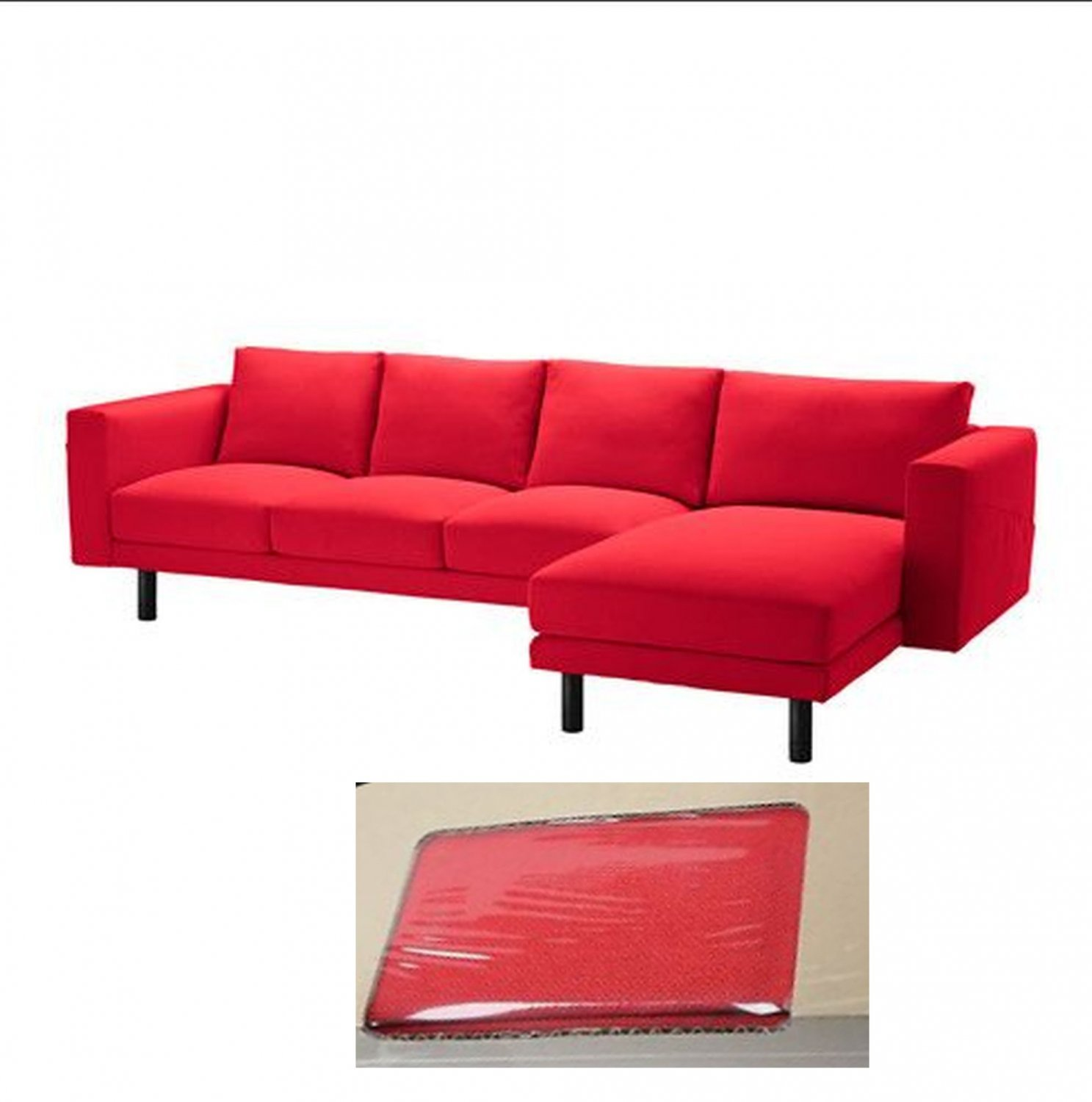 ikea 4 seater sofa cover cindy crawford denim sale norsborg 3 seat w chaise slipcover finnsta