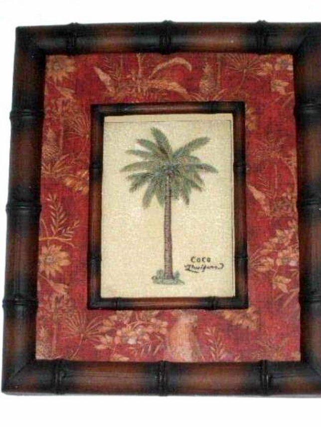 palm tree kitchen decor remodeling a tropical coco wall art print framed shadowbox