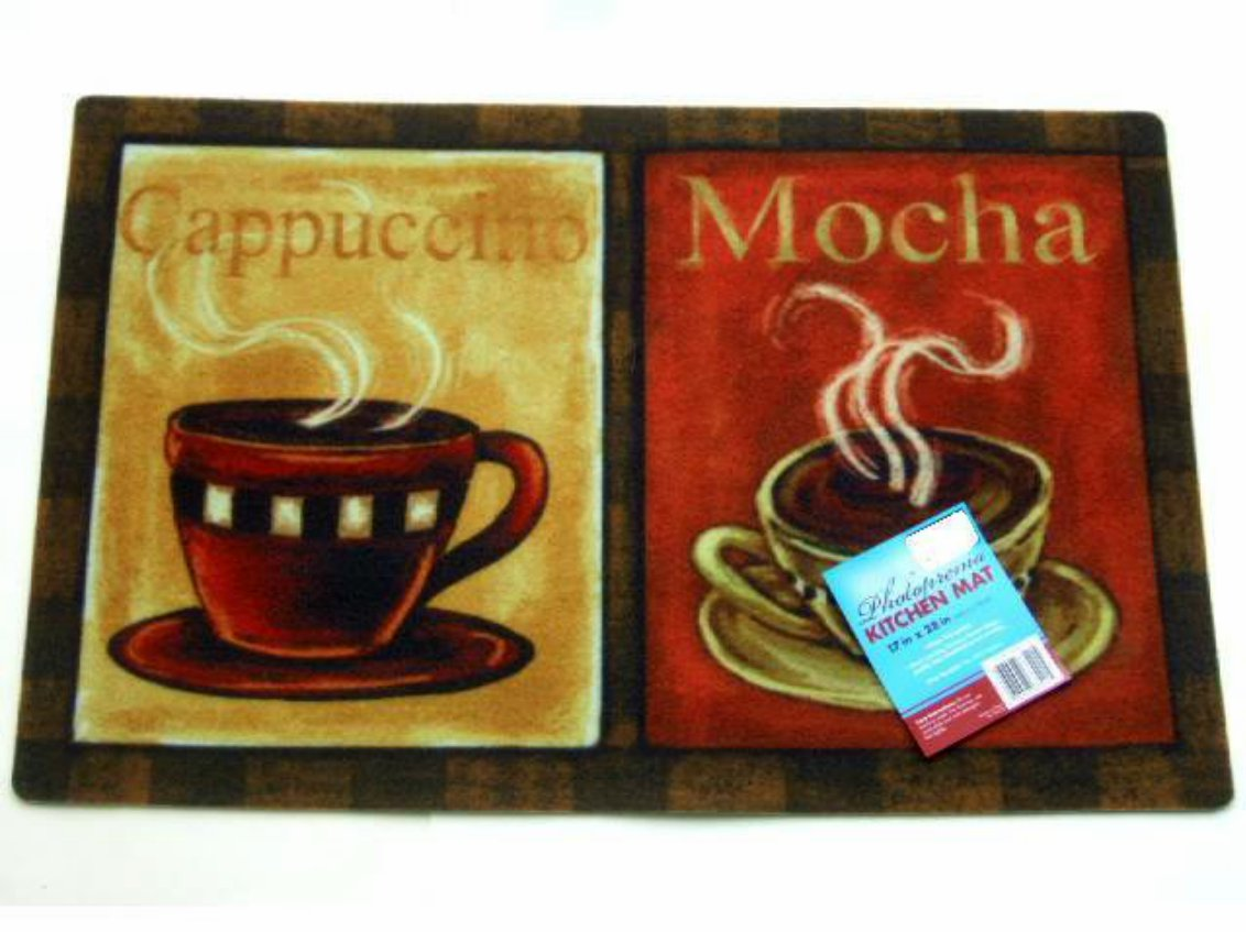 coffee kitchen rugs hotels with kitchens cups rug cappuccino mocha mat