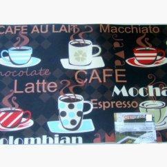 Coffee Kitchen Rugs Island With Wheels Cups Rug Espresso Latte Mocha Mat