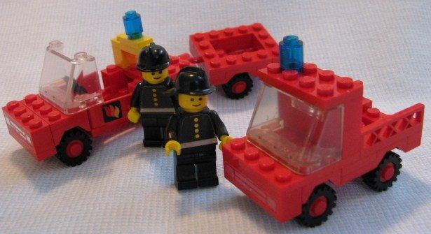 Vintage Lego Firemans Car  Fire Truck and Trailer Sets