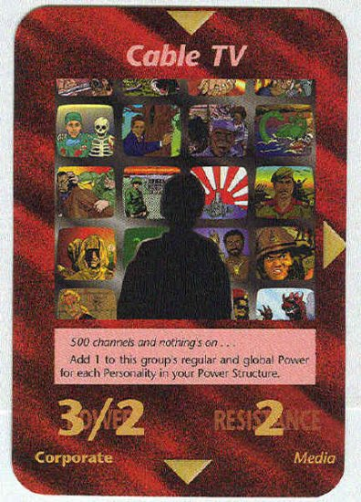 Illuminati Cable TV New World Order Game Trading Card
