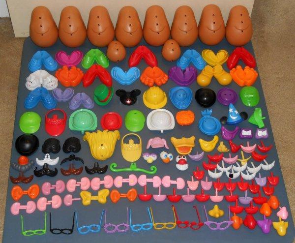 Sold Potato Head Lot 360 Pieces Daycare Uncle Sam