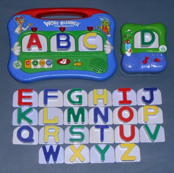 Sold Leapfrog Lot Fridge Phonics 26 Letter Set Word Whammer Unit Launch Magnetic Leap Frog