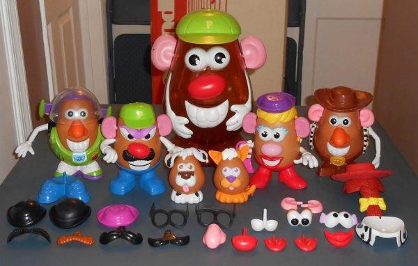 Sold Potato Head Lot 99 Parts Pieces Toy Story Buzz