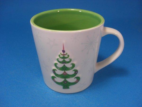 Starbucks 2006 Mug Christmas Tree and Snowflakes