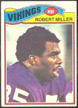 MINNESOTA VIKINGS ROBERT MILLER 1977 TOPPS  191 VG