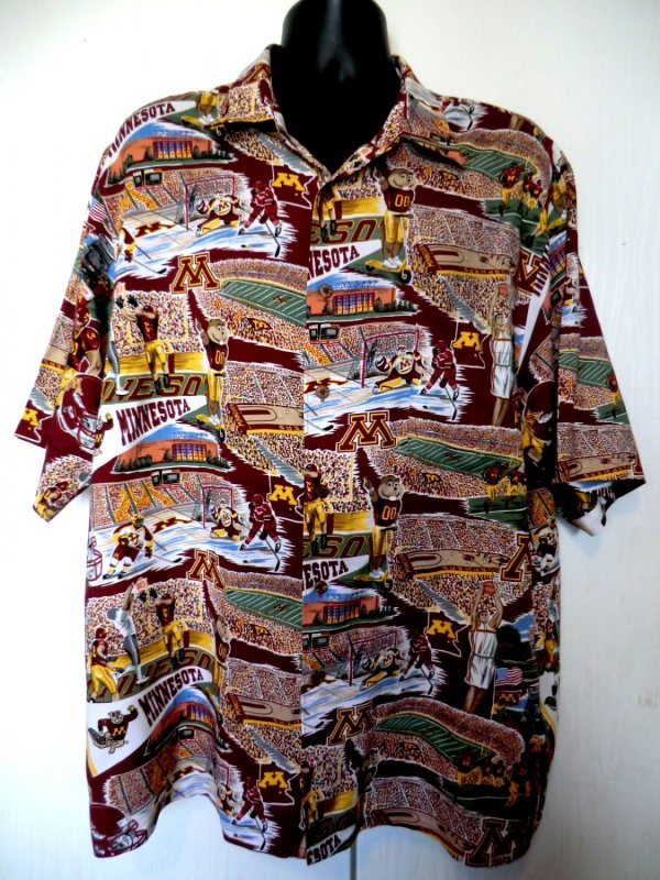 Sold Reyn Spooner Minnesota Golden Gophers Hawaiian Shirt