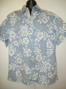 Reverse Hawaiian Pull-over Shirt Size Large Barefoot