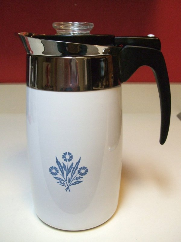 Corningware Electric Coffee Pot Percolator Ten Cup