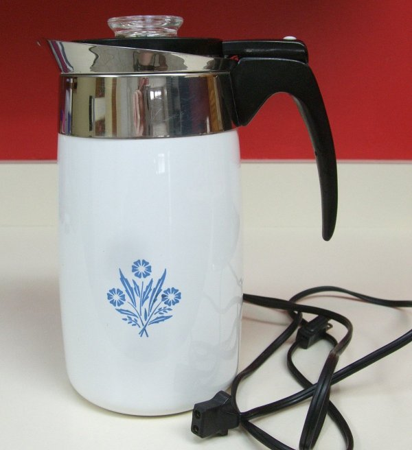 Corningware Electric Coffee Pot Percolator P80ep Ten Cup