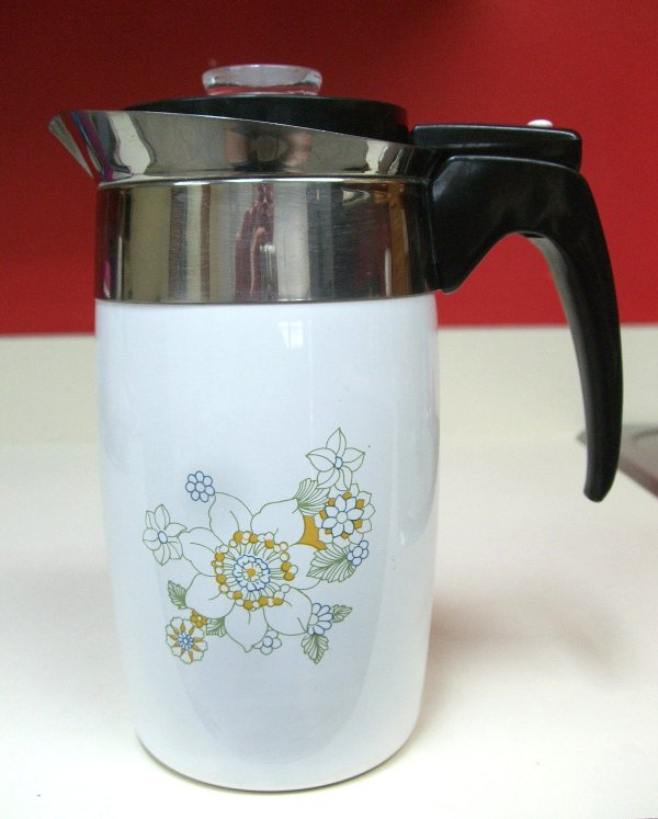 Corning Ware Floral Bouquet Electric Coffee Pot Percolator
