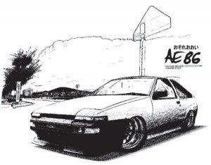 Toyota Corolla AE86 Drift Zone Drawing Car Tees