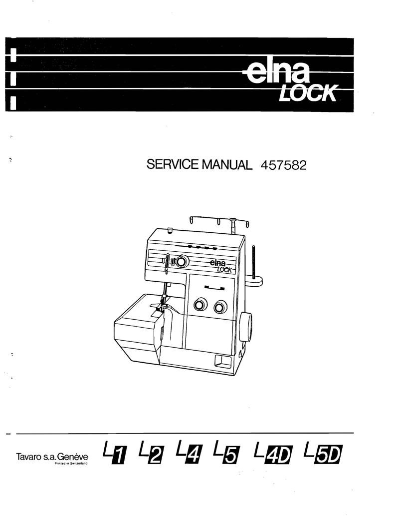 Elna Lock Serger Sewing Machine Service Manual Pdf
