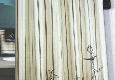 Nautical Shower Curtains Nautical Fabric Shower Curtain