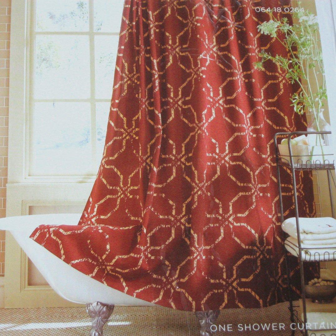Target Home TIBETAN Rust Gold Fabric Shower Curtain
