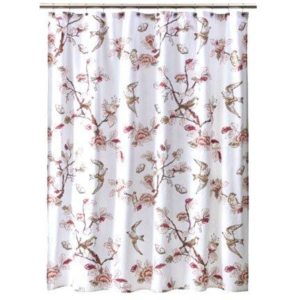 Target Home BOTANICAL BIRD Pink Fabric Shower Curtain