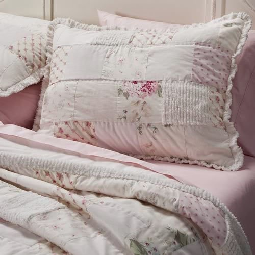 Simply Shabby Chic Pink Chenille Patchwork Full Queen 86 X