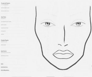 Mac Blank Face Chart Collection