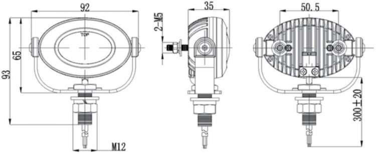 Yamaha FJR1300 LED 6000K Flood Lights Auxiliary Lamps Kit