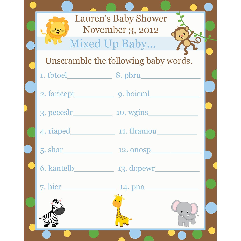 Animal Baby Scramble Worksheet