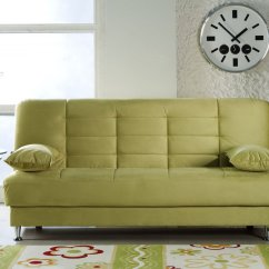 Vegas Futon Sectional Sofa Bed Queen Sleeper With Storage Small 2 Seater Singapore Lt Green Microfiber