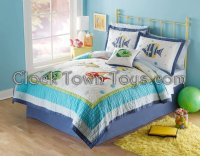 5PC Colorful Underwater Sea TWIN Quilt Bedding Set QS3909TW