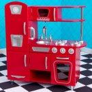 kidkraft red vintage kitchen 53173 pine bench 3pc spring queen of pink hearts full/queen quilt bedding w ...