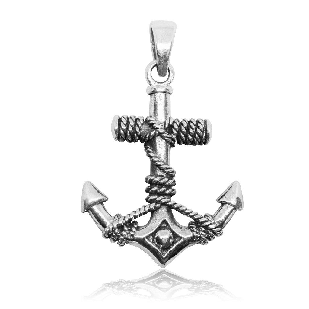 925 Sterling Silver Nautical Navy Sailor Ship Ocean Anchor