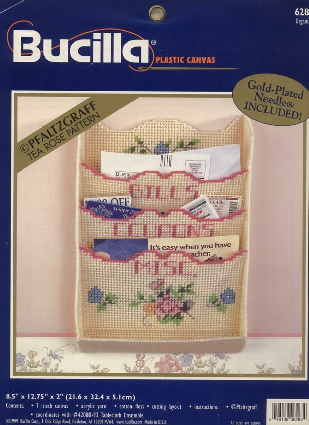 Bucilla Plastic Canvas Organizer Pattern Only From Kit 6288
