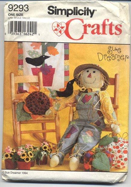 Simplicity Crafts 9293 Scarecrow Pumpkin Sunflower