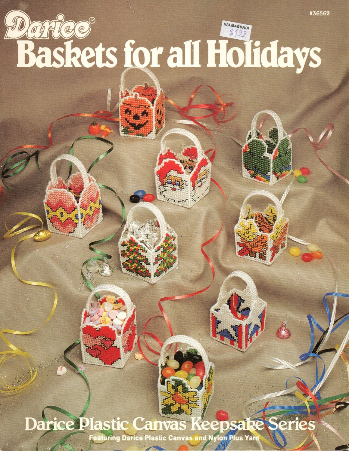Darice Baskets For All Holidays 36562 Plastic Canvas Patterns