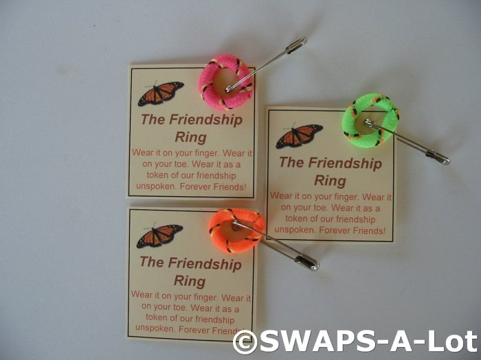 Mini Friendship FingerToe Ring SWAPS Kit for Girl Kids