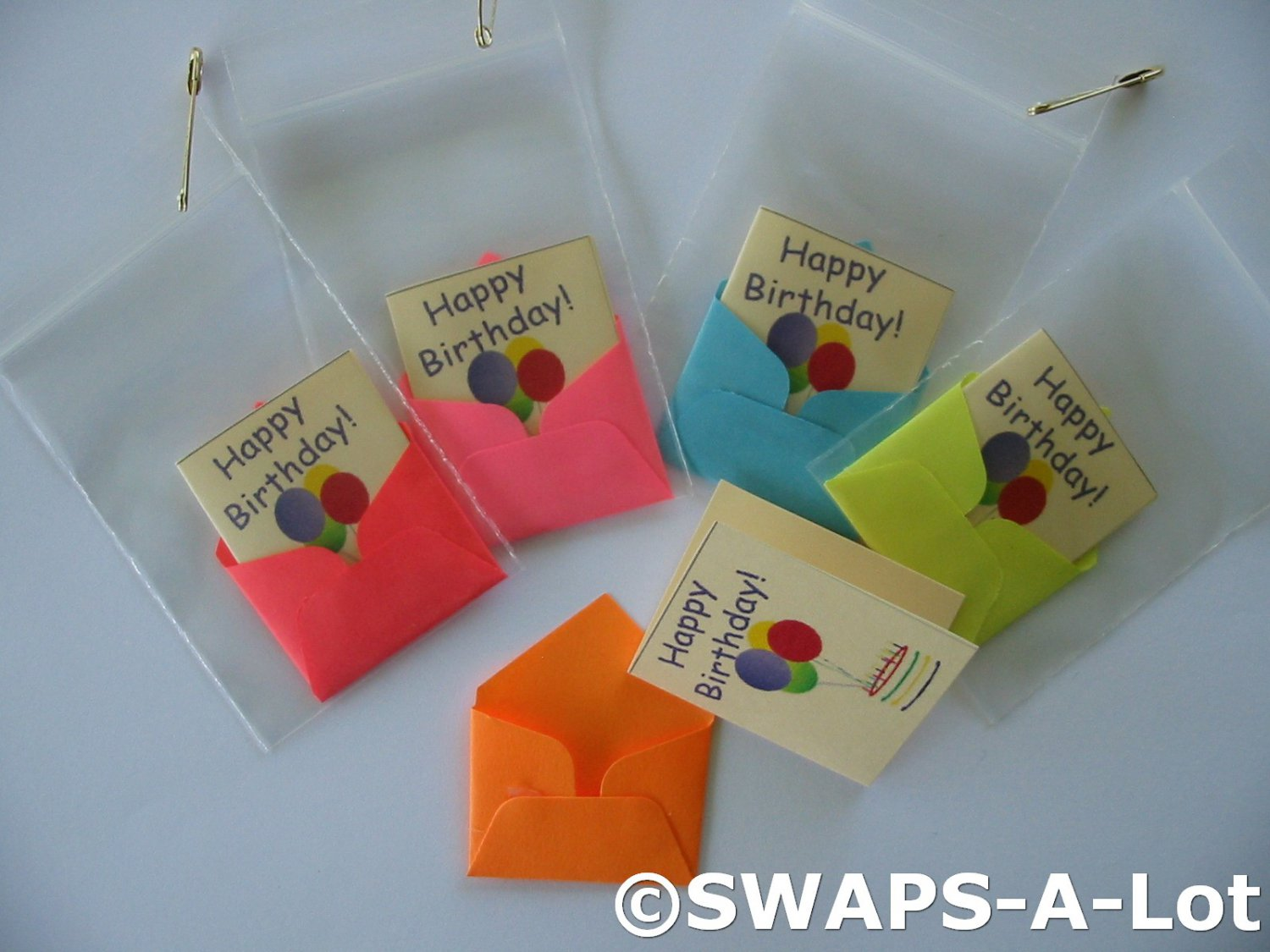 Mini Happy Birthday Card Envelope SWAPS Kit For Girl Kids