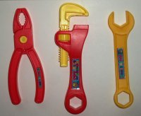 Chuck E. Cheese's Lot of 3 Plastic Toy Tools Wrench Pliers ...