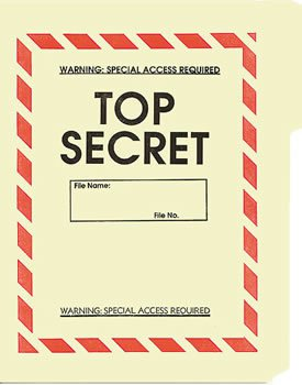 Government Top Secret File Folders  NEW