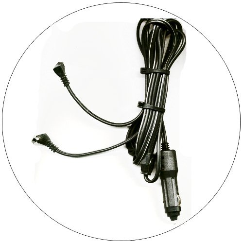 12 Volt Cigarette Lighter Power Adaptor w/ 2 Barrel Plugs