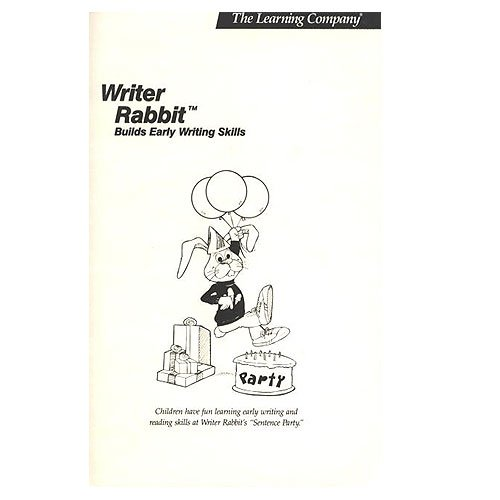 Original 1986 The Learning Company Writer Rabbit Builds