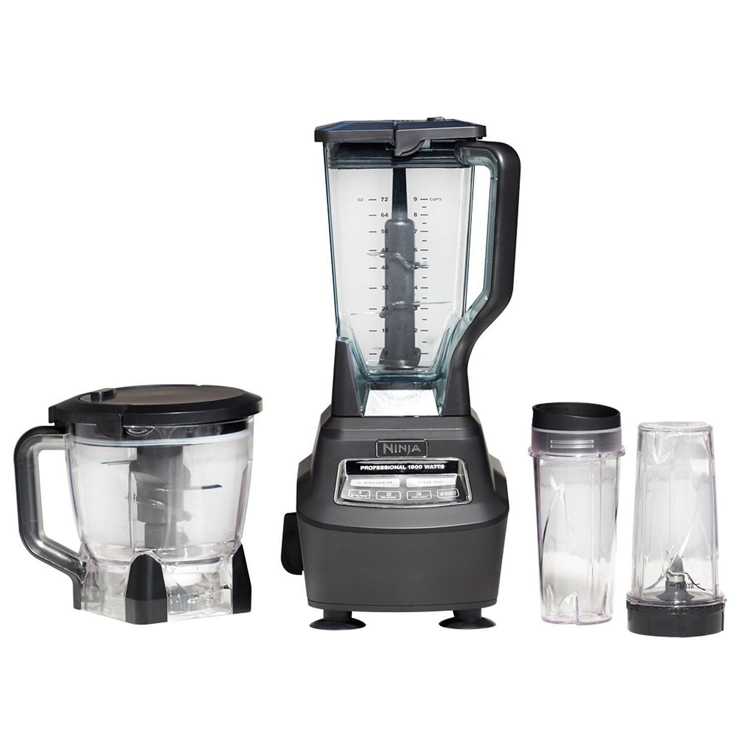 ninja complete kitchen system mid century modern design bl770 food processors and prep new