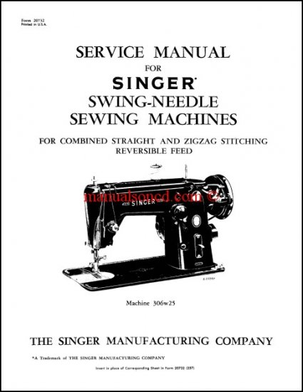 Singer 306, 206, 319 Service And Repair Manual